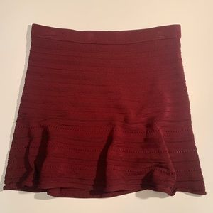 Rebecca Minkoff Maroon Stretch Knit Aline Skirt